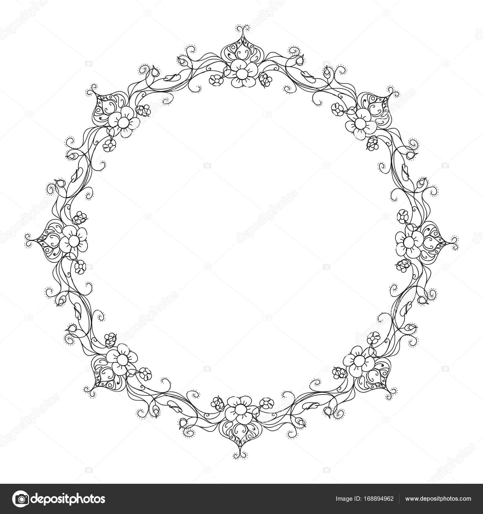 Floral Ornament Rahmen Kranz — Stockvektor © Lord_Zigner #168894962