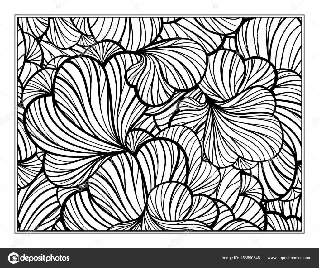 çiçek Dekoratif Süs Boyama Sayfası Stok Vektör Sablegear 153690848