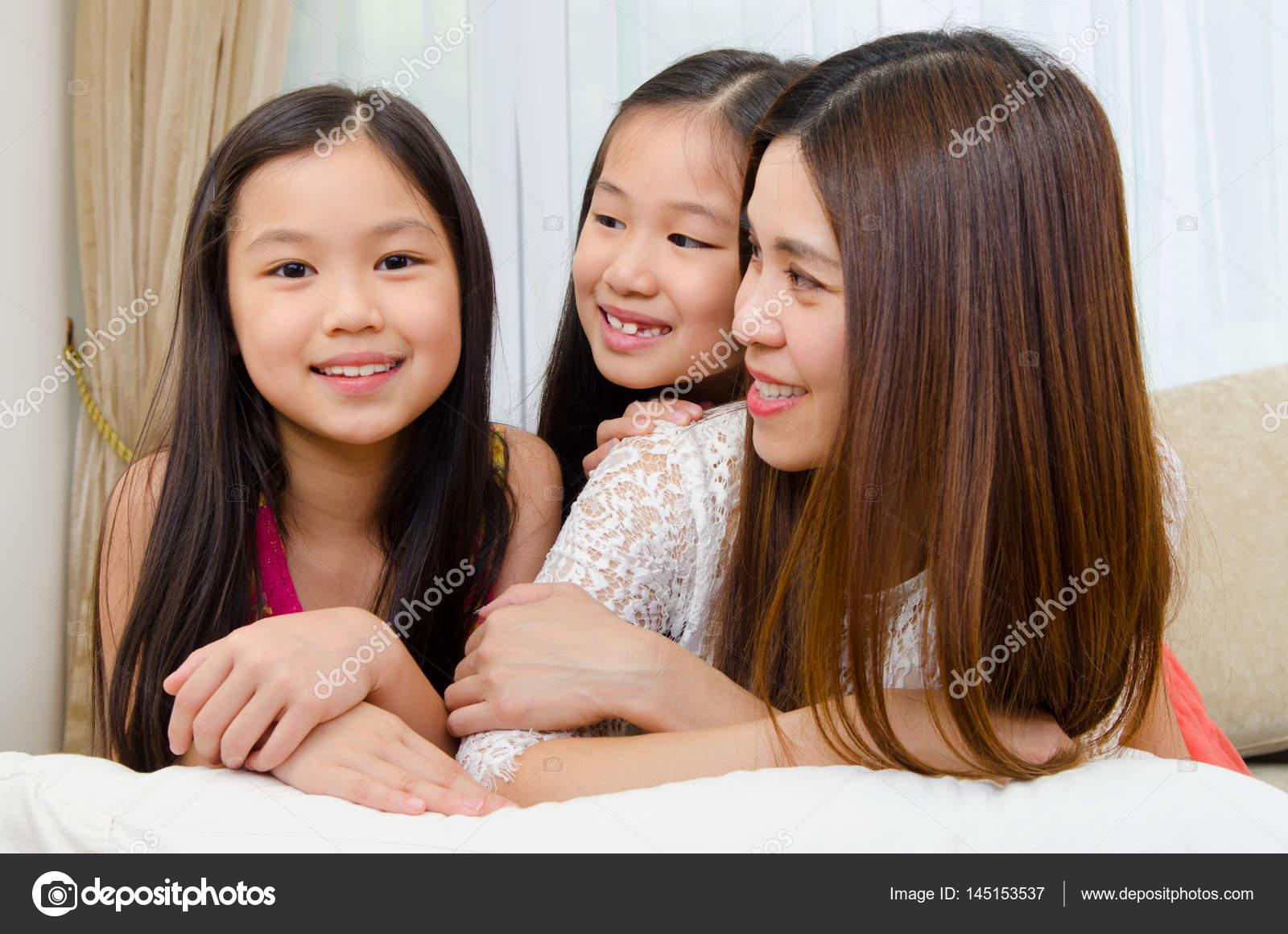 asiatische reife Mutter