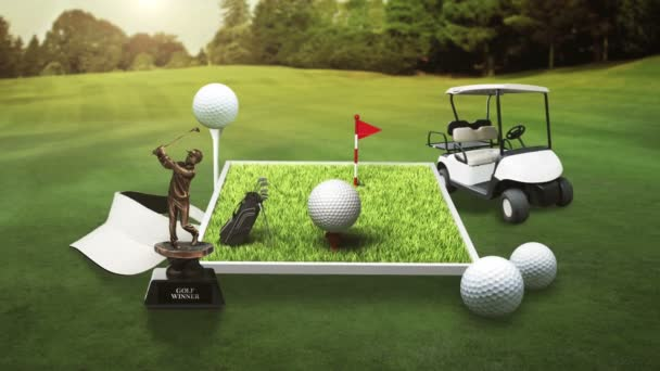 golf field  illustration