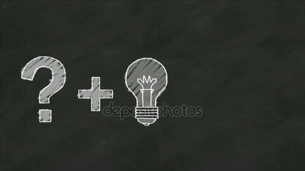 Otázka Marka plus myšlenkou žárovka je vykřičník