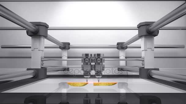 3D printer, make typo 3D 3D scanner animation.gold.