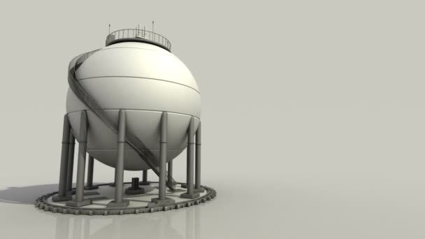 Sphere gas storages in petrochemical plant, Oil tank on white background.1.