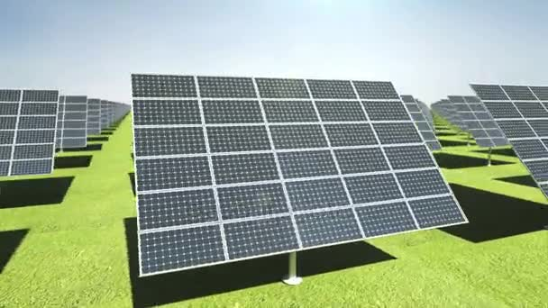 Many Solar panels on green background. eco energy.presentation(included alpha)