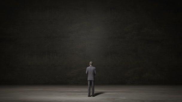 Unternehmer wählen rechten Pfeil oder linken Pfeil. Entschlossene Wege. Entscheidung1