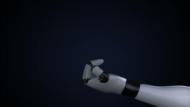 Növekvő globális hálózati kommunikációs, a világ Térkép, a föld a robot cyborg palm, kézi, robot kar