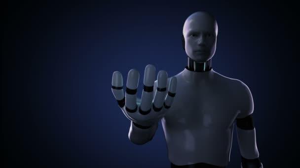 Kyber robot otevřít palm, nemocnice chirurgie operace lékařské vybavení. Vzdálené diagnostické technologie. žádná zeď.