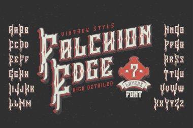 Retro typeface named Falchion Edge