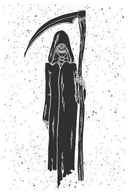 hand drawn Grim reaper