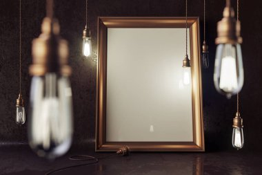 electric lamps with blank picture frame