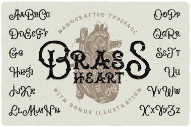 Vintage typeface with rough textured effect