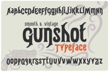 font Gunshot Typeface