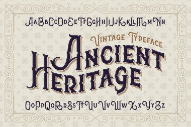 Elegant royal typeface