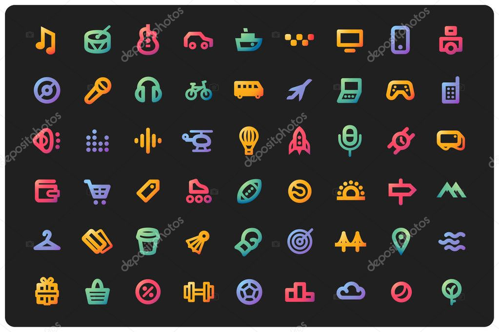 big set of icons