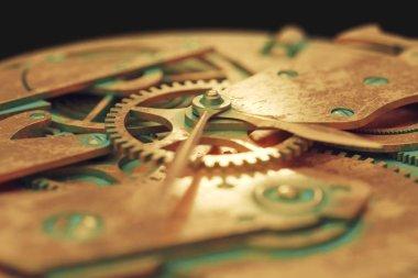 old metal watch gears