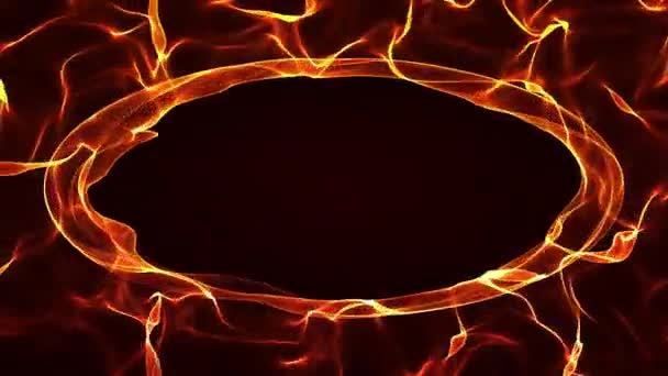 Burning Flames Intro Fiery Background Design For Halloween Holiday