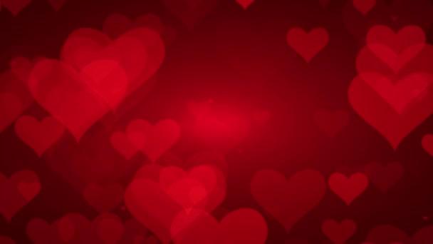 Měkké červené pozadí se srdcem. Valentines Day Concept