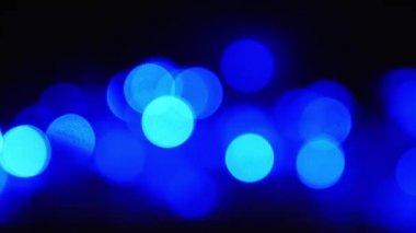 Absztrakt háttér karácsonyi kék fény bokeh. Új év