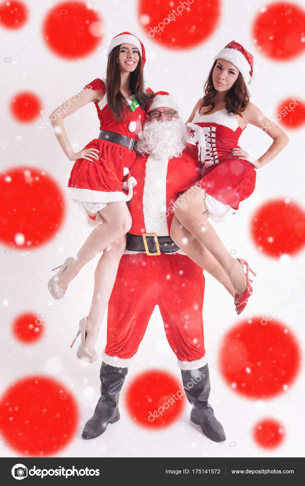 Christmas Babes.Hot Girl Christmas Christmas Party 2016 Strong Santa