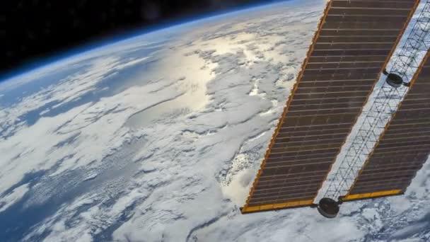 Rotierende Erde wie von der internationalen Raumstation, Time Lapse 4 k gesehen. Bilder mit freundlicher Genehmigung von Nasa Johnson Space Center
