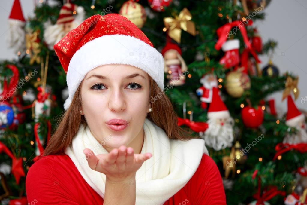 A Christmas Kiss.A Christmas Kiss Stock Photo C Ph Stephan 129557598