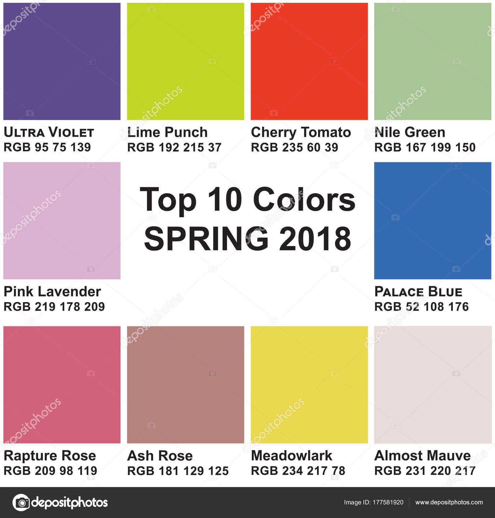 Top 10 colores primavera 2018 colores de moda de una for Popular colors 2016