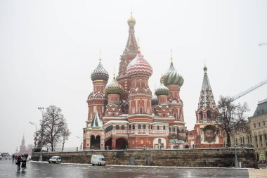 Russia, Moscow, 19.12.2017: St. Basils cathedral