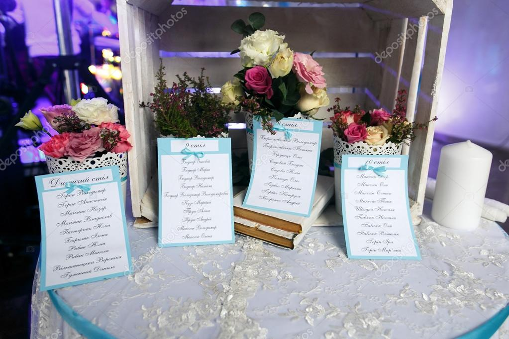 guest list on wedding table stock photo ivash 127327454