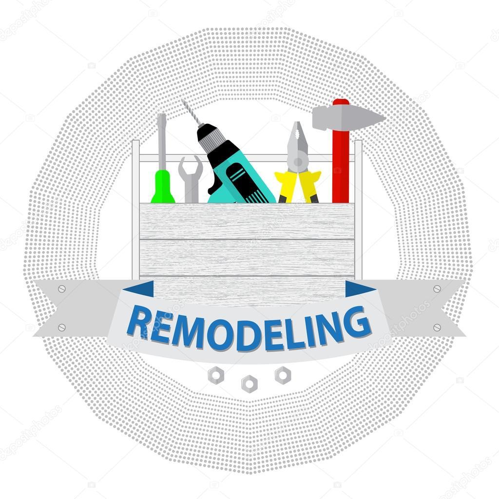 House Remodel Tools Logo Home Repair Service House Repair