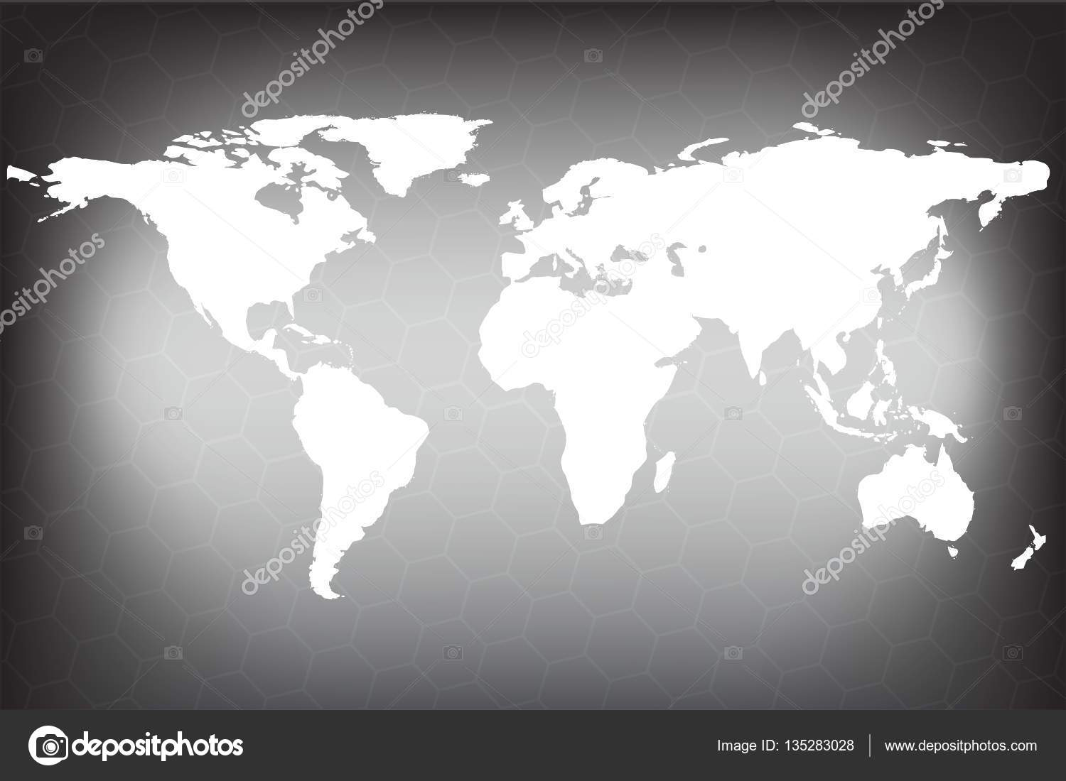Gray similar world map vector world map on hexagon background gray similar world map vector world map on hexagon background world map vector gumiabroncs Gallery