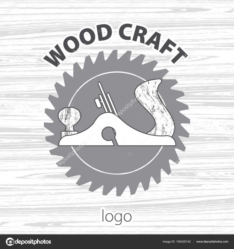 Wood Craft Logo Woodworks Professional Service Light Wood Texture