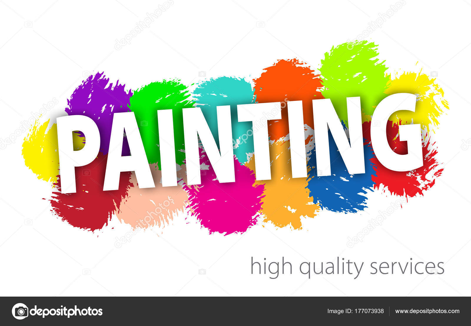 professional painting services logo abstract hand painted
