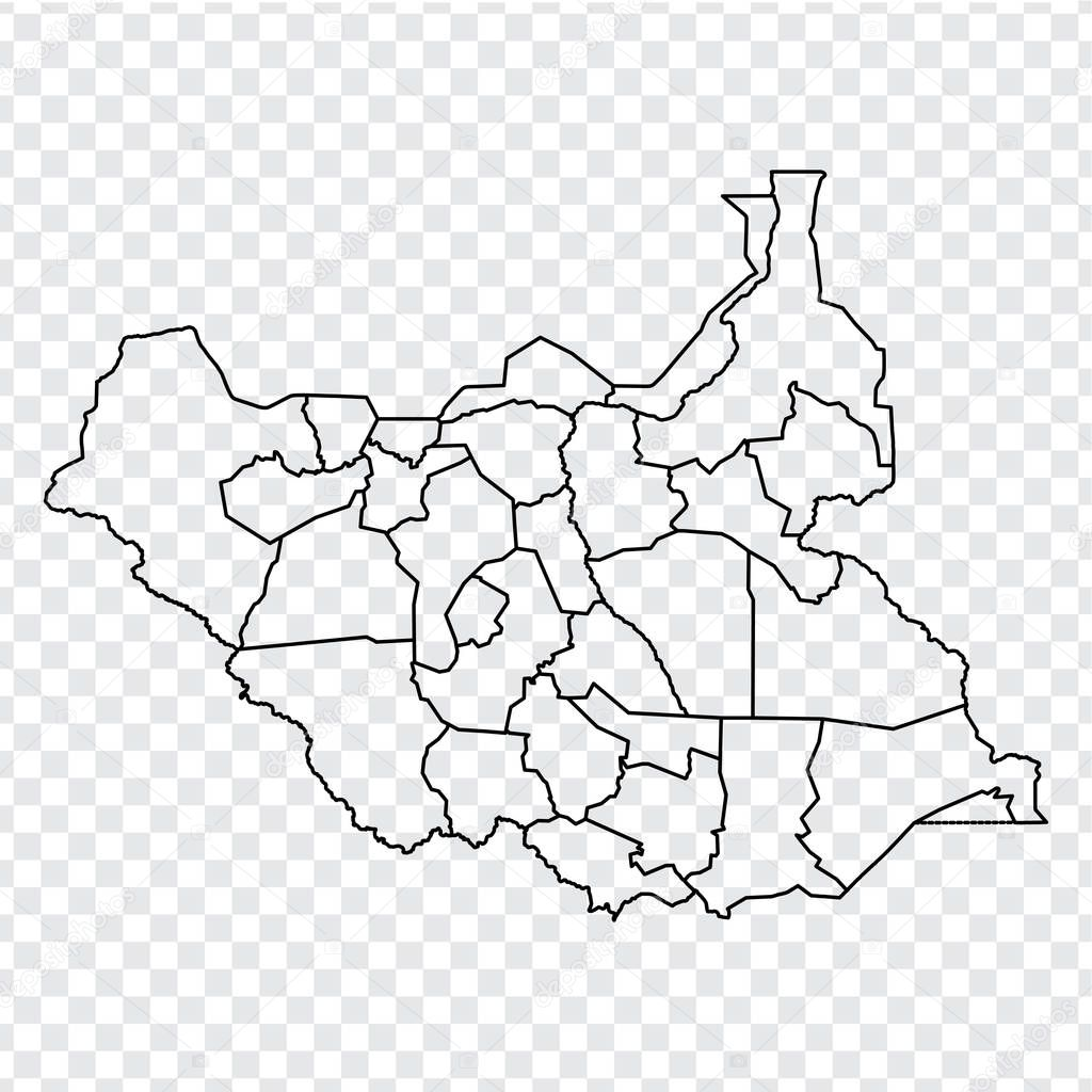 Picture of: Blank Map Republic Of South Sudan High Quality Map Of Sudansouth Sudan With Provinces On Transparent Background For Your Web Site Design Logo App Ui Africa Eps10 Premium Vector In Adobe