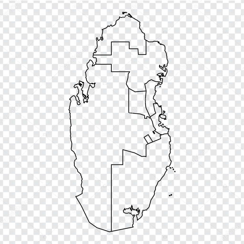 Blank Map Of Qatar High Quality Map State Of Qatar With Provinces On Transparent Background For Your Web Site Design Logo App Ui Asia Middle East Eps10 Premium Vector In Adobe