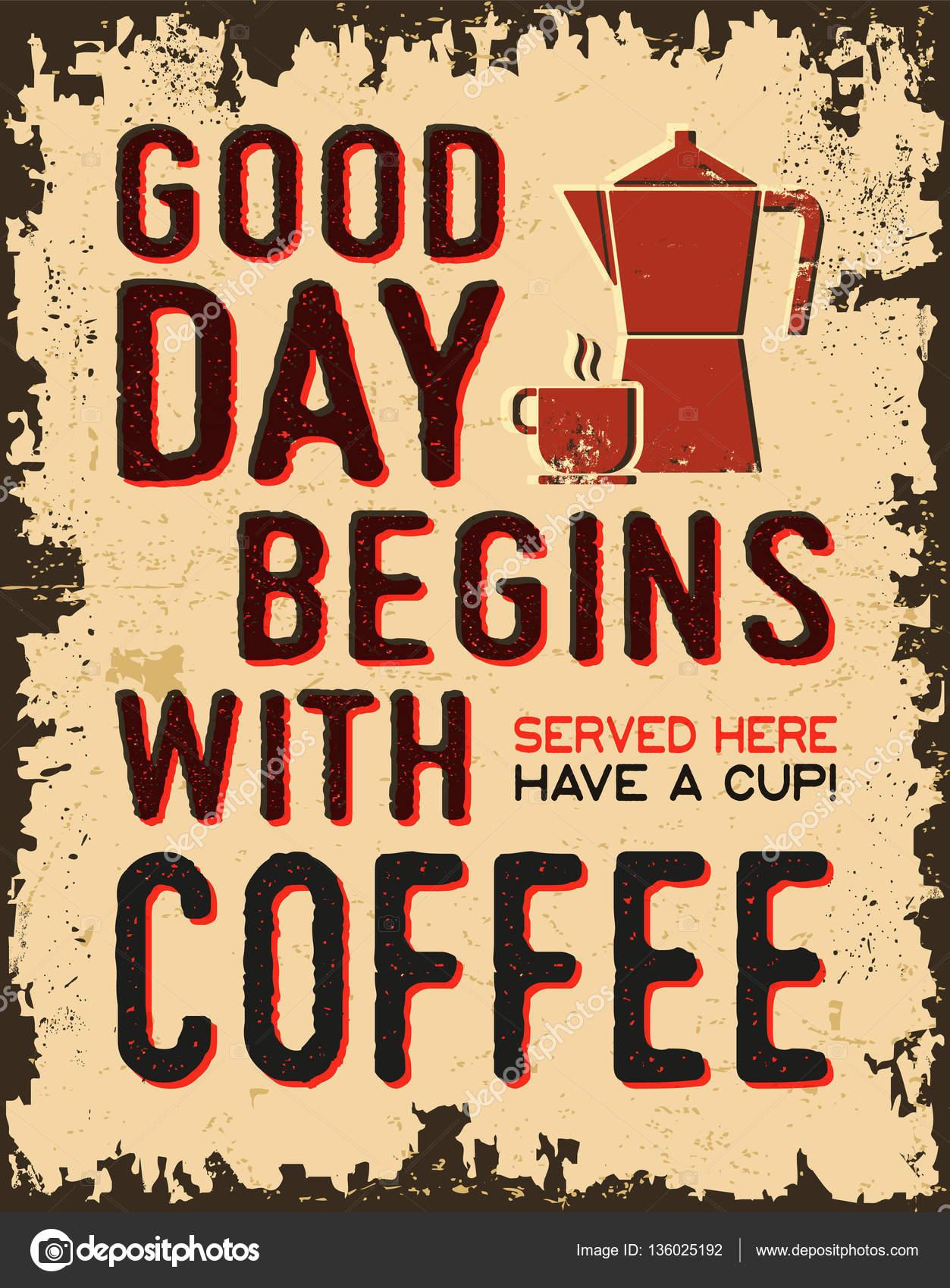 Coffee Posters Retro ~ Coffee vintage poster — stock vector bobevv