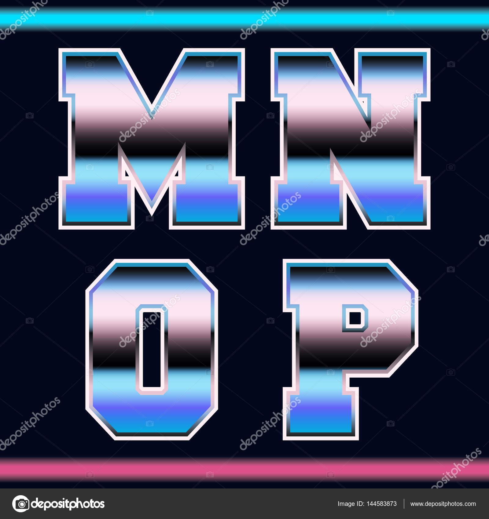 Vintage video game font — Stock Vector © bobevv #144583873
