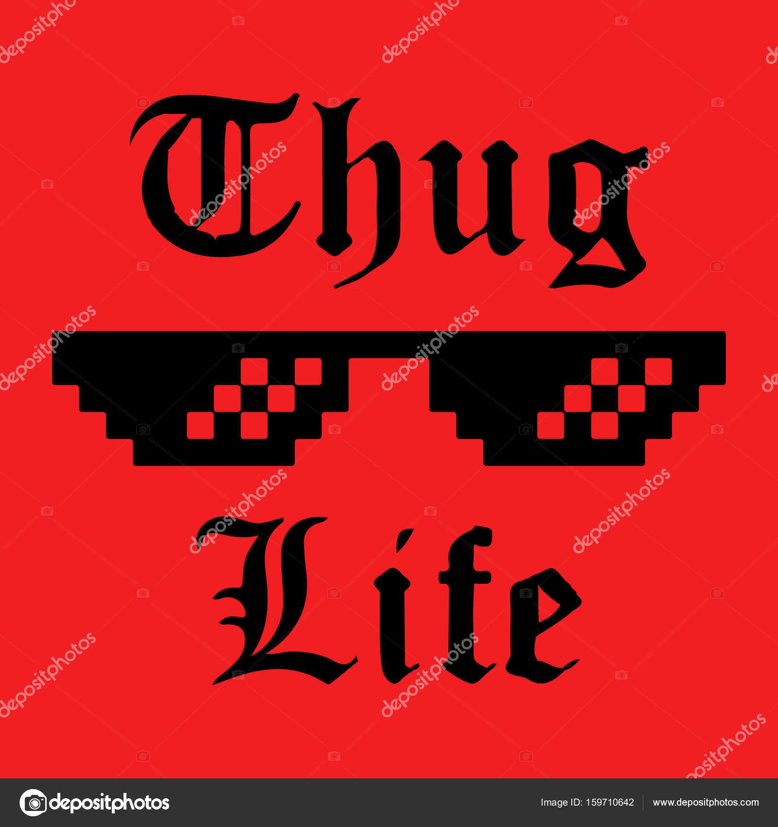 Autocollant de thug life image vectorielle