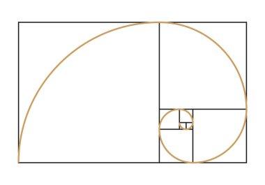 Fibonacci spiral symbol