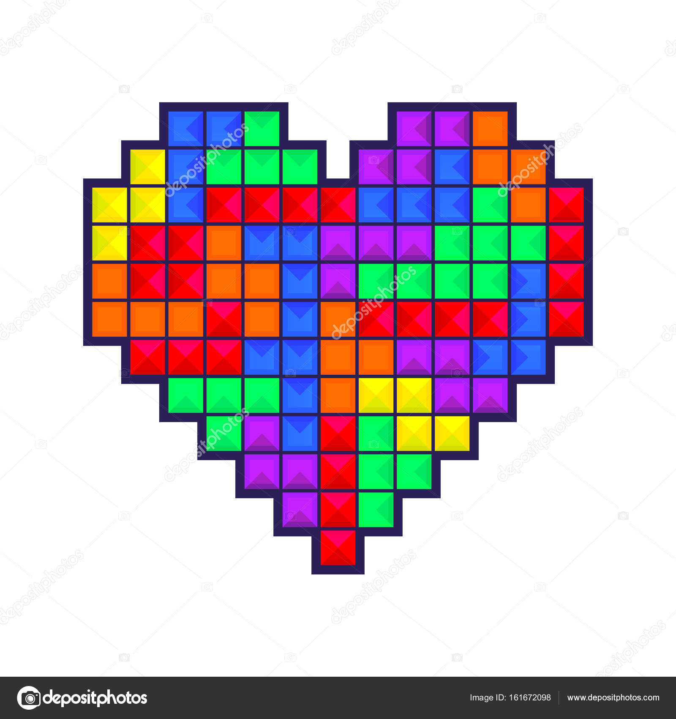 Mosaic heart colored — Stock Vector © bobevv #161672098