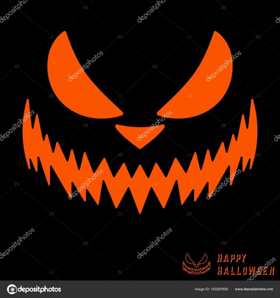 halloween scary pumpkin template — stock vector © bobevv #163287650