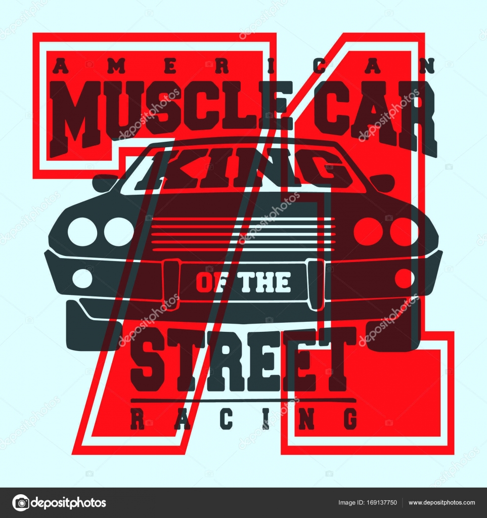 59d04ad0f American muscle car vintage t shirt stamp. Printing and badge applique  label t-shirts, jeans, casual wear. Vector illustration.