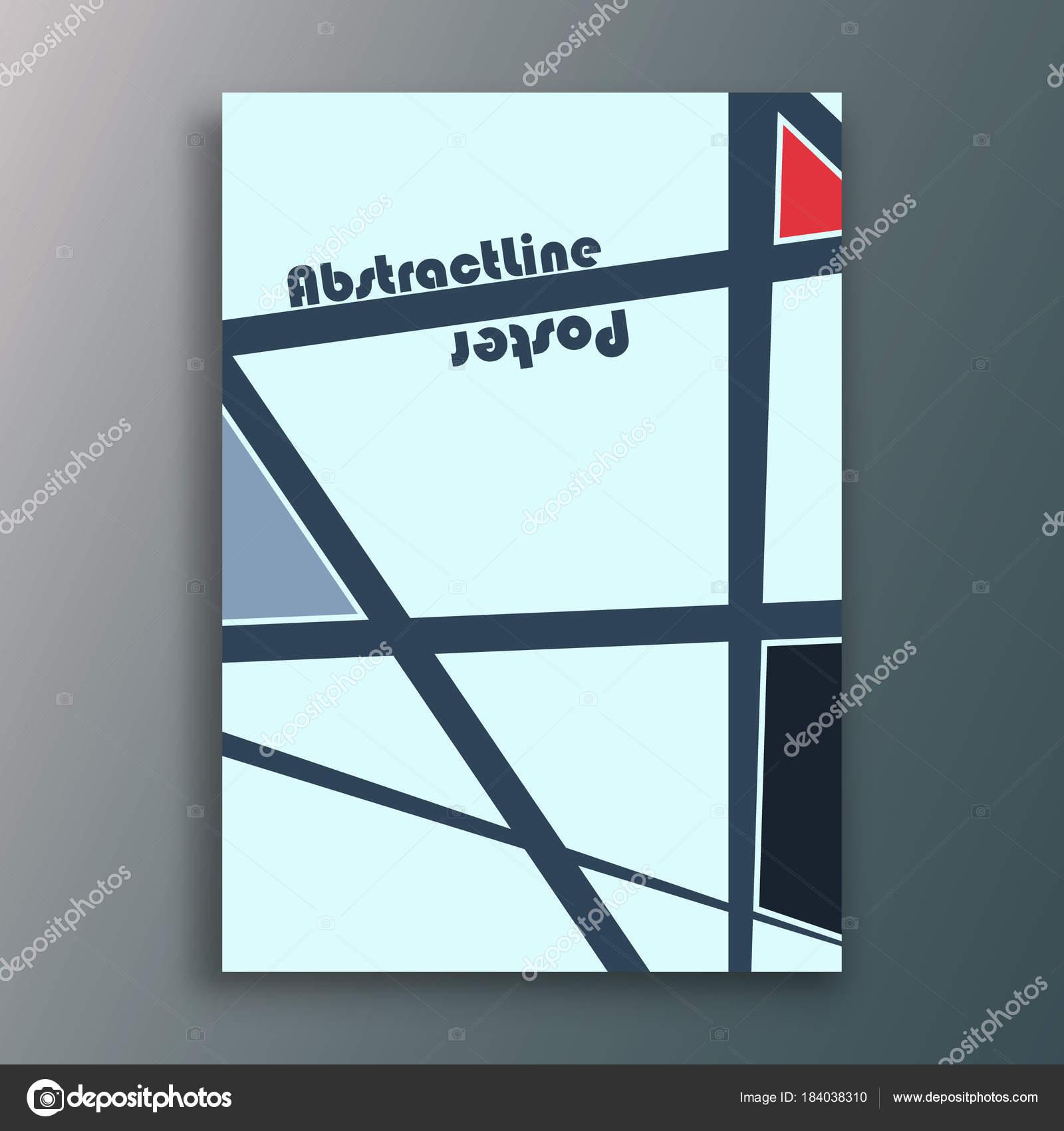 Gekreuzte Linien innen Plakat — Stockvektor © bobevv #184038310