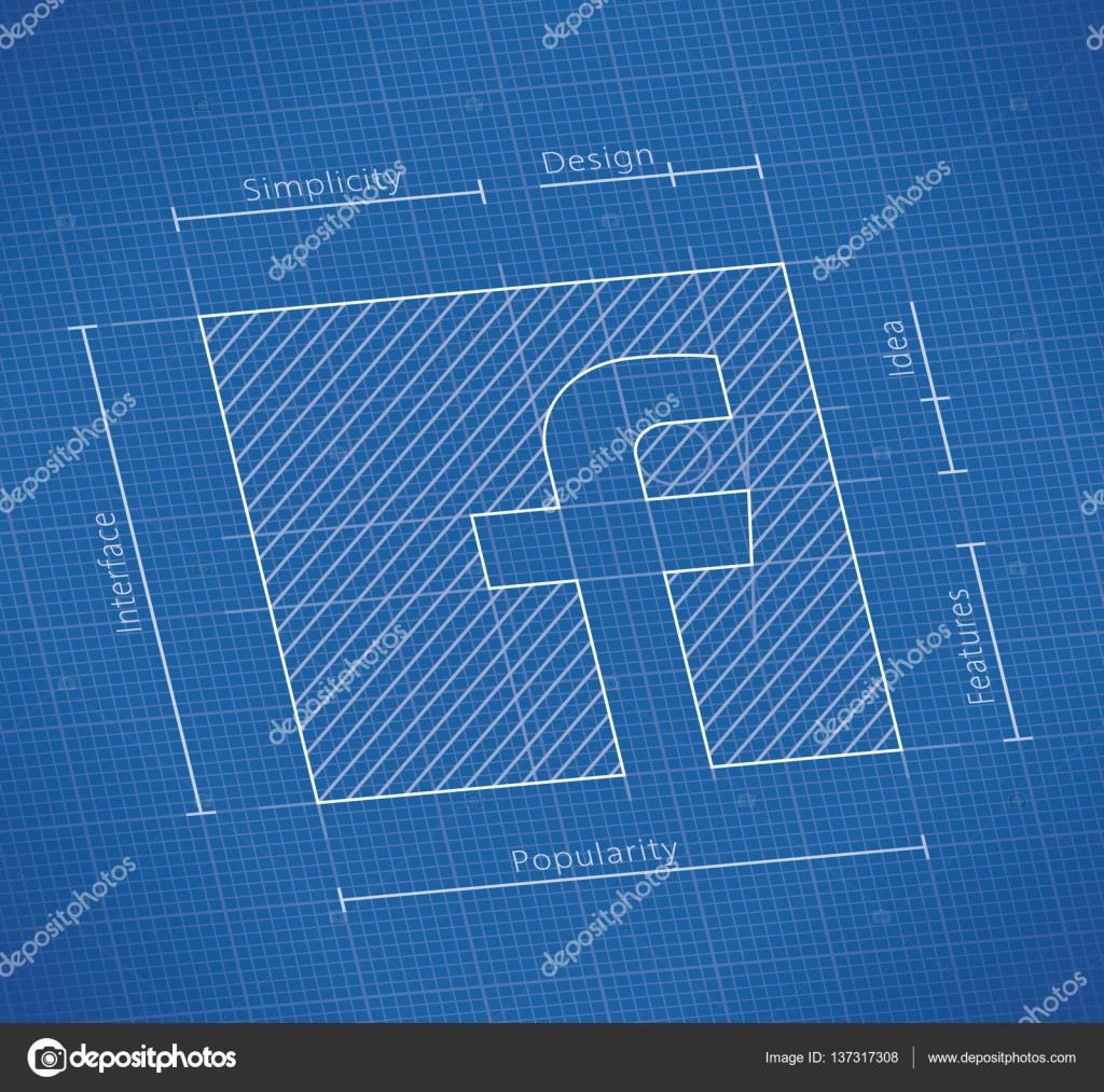 January 12 2017 abstract blueprint of facebook social network logo january 12 2017 abstract blueprint of facebook social network logo facebook is a malvernweather Gallery
