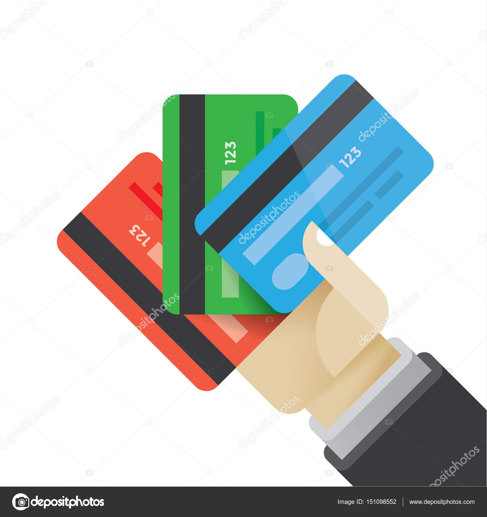 Businessman hand holding multi colored credit cards idea business businessman hand holding multi colored credit cards idea business credit investment and savings online shopping and banking e commerce etc colourmoves