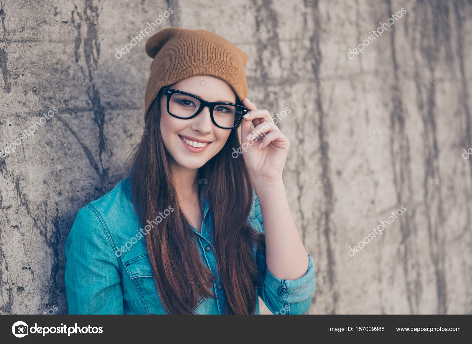 Good Morning Close Up Of Attractive Girl Standing Near Concret Stock Photo C Deagreez1 157009988