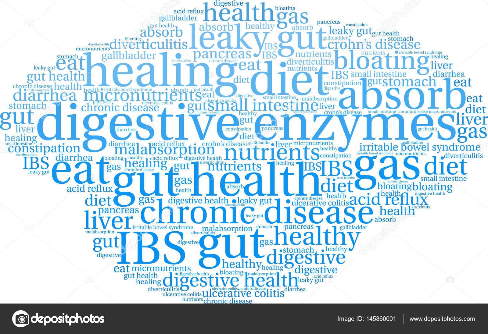 Digestive Enzymes Word Cloud Stock Vector Arloo 145860001