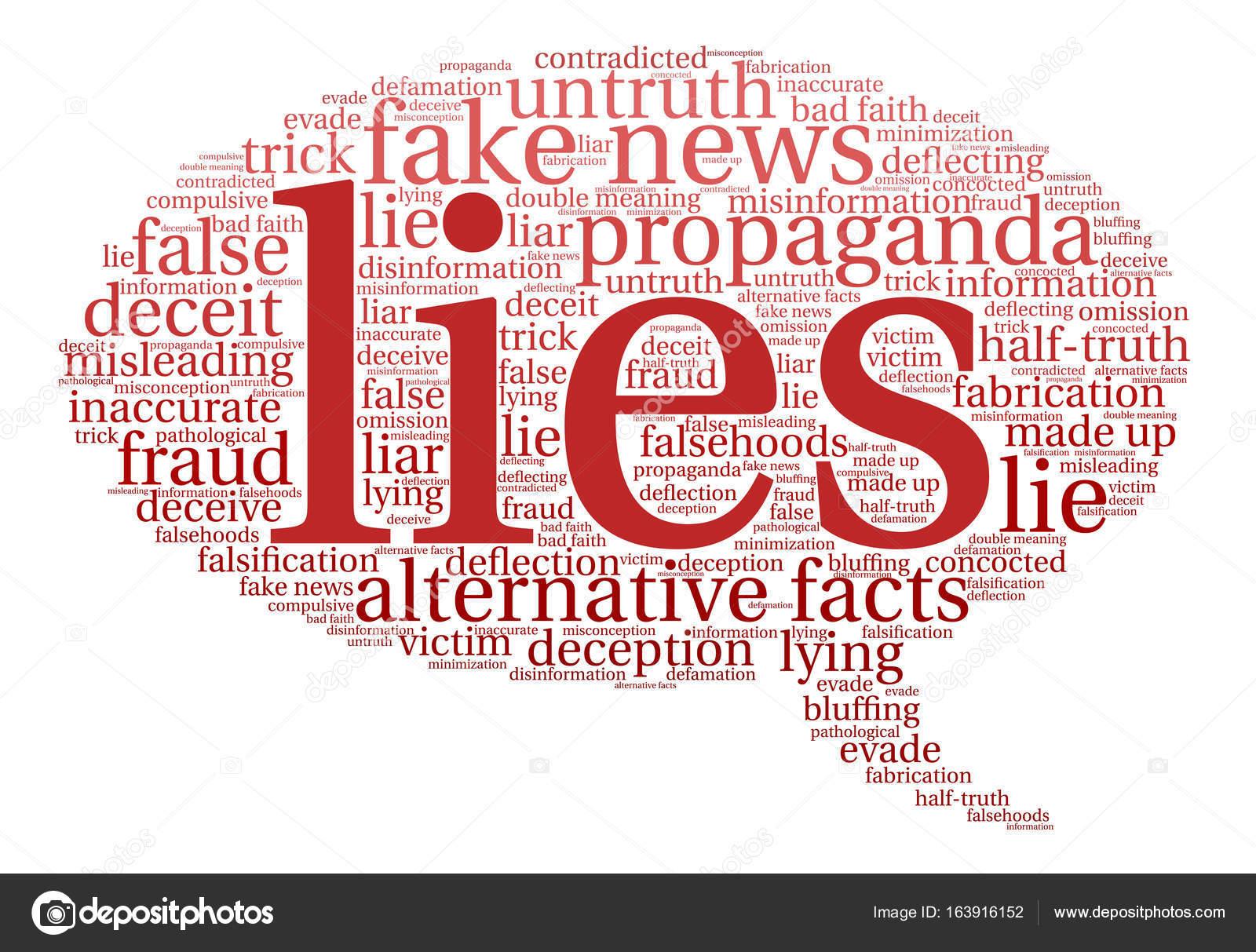 Lies Word Cloud — Stock Vector © arloo #163916152
