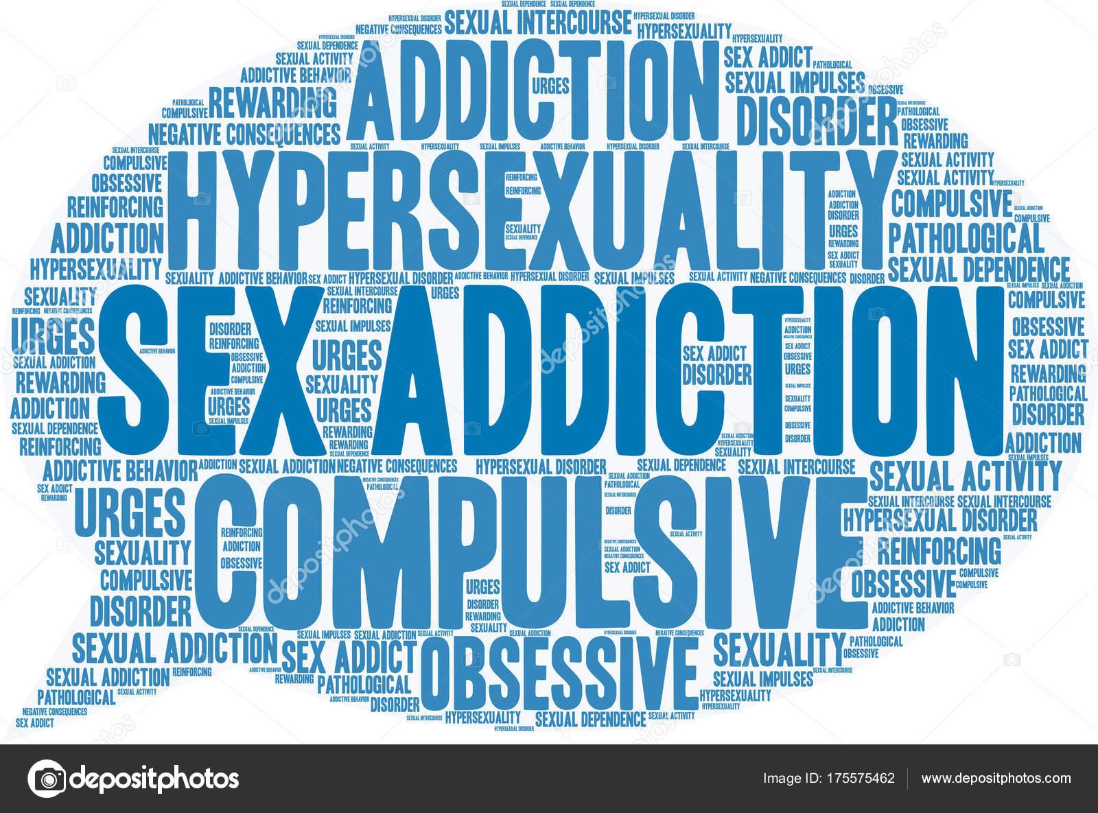Sex Addiction Word Cloud — Stock Vector