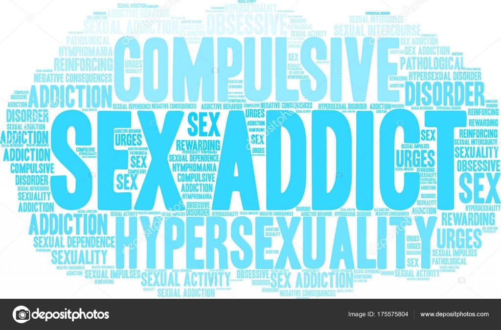Sex Addict Word Cloud — Stock Vector