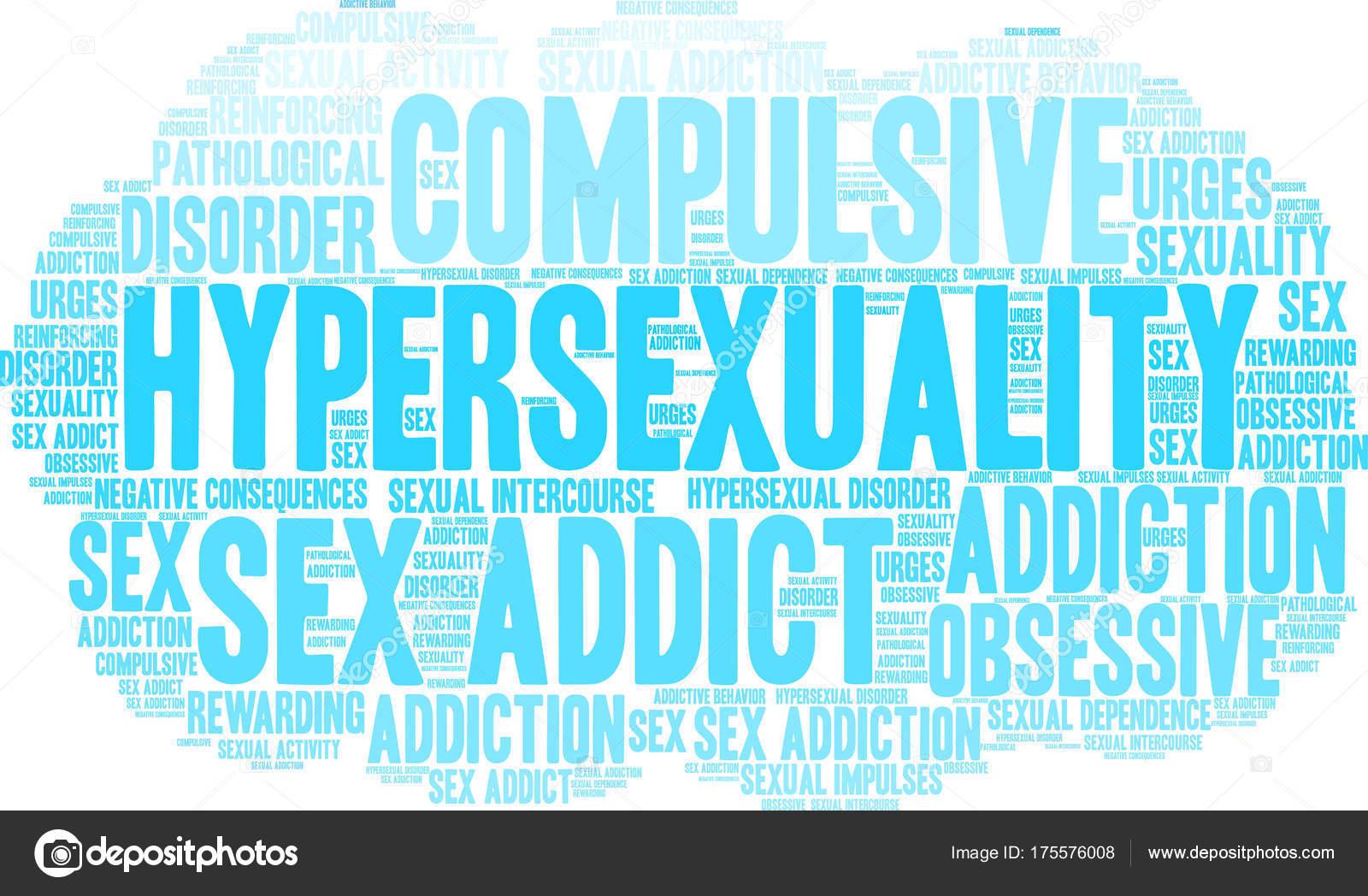 Hypersexuality Word Cloud — Stock Vector #175576008